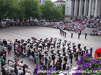 Royal Marines School Of Music Beating Retreat In Guildhall Square Portsmouth (31st July 2009)