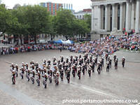 Band of HM Royal Marines School of Music Beat Retreat in Guildhall Square Portsmouth Friday 9th August 2013