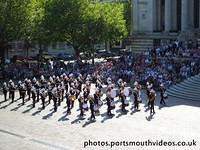 Band of HM Royal Marines School of Music Beat Retreat in Guildhall Square Portsmouth Saturday 8th August 2015