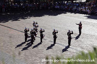 Band of HM Royal Marines School of Music Beat Retreat in Guildhall Square Portsmouth Saturday 6th August 2016